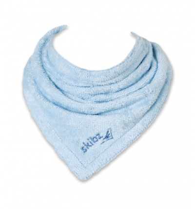 Organic Baby Blue Skibz Teething Bib
