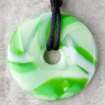 Teething Bling Pendant - Green Swirl