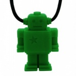 Green Junior Robot Necklace