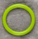 Teething Bling BANGLE - Yellow Green
