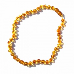 Round Bead Amber Necklace