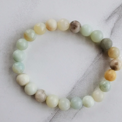 Adult Amazonite Beaded Bracelet