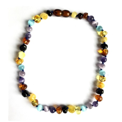 Amber and Cats Eye Mix Necklace