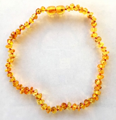 Child Amber Necklace - Coloured Thread
