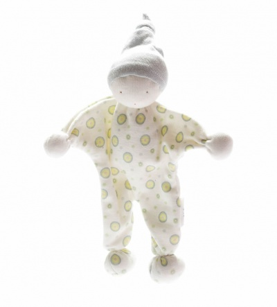 Under the Nile Organic Cotton Baby Buddy Blue Green Spots