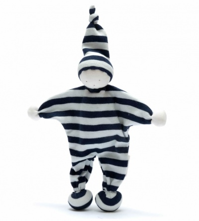 Under the Nile Organic Cotton Baby Buddy Navy Stripe