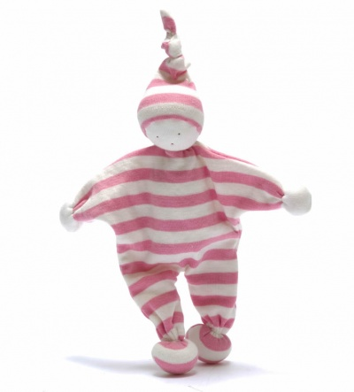 Under the Nile Organic Cotton Baby Buddy Pale Pink Stripe