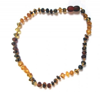 Autumn Medley Amber Necklace
