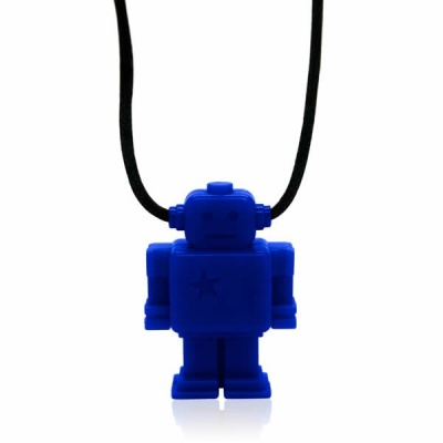 Blueberry Junior Robot Necklace