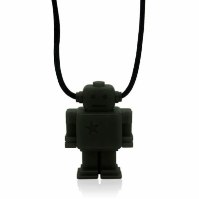 Smokey Black Junior Robot Necklace