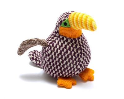 Knitted Toucan Rattle