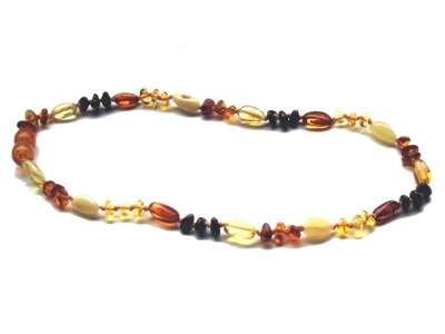 Baroque Olive Amber Necklace