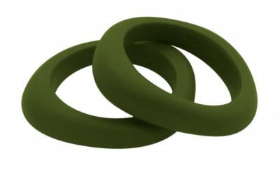 Organic Bangle Forest Green