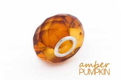 Cognac Faceted Amber Charm Bead