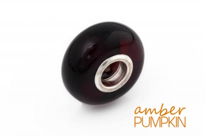 Dark Cherry Amber Charm Bead