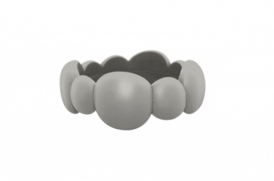 Organic Pebble Bangle Smokey Grey