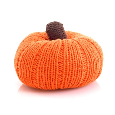 Pebble Vegetable Rattle - Pumpkin