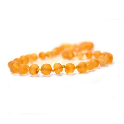 Unpolished Baroque Amber Necklace
