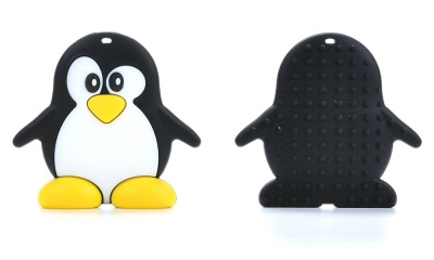 Silicone Penguin Teether