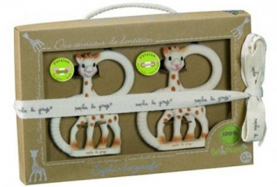 So Pure Sophie the Giraffe Duet Teething Ring Set