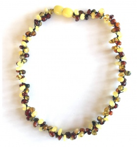 Amber Flowerburst Child Necklace