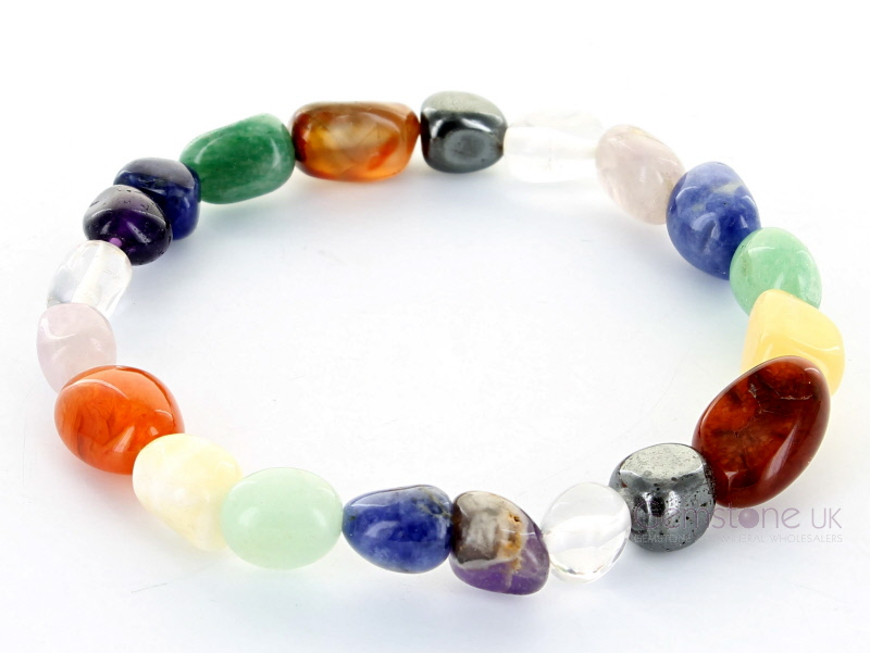Chunky Chakra Crystal Bracelet