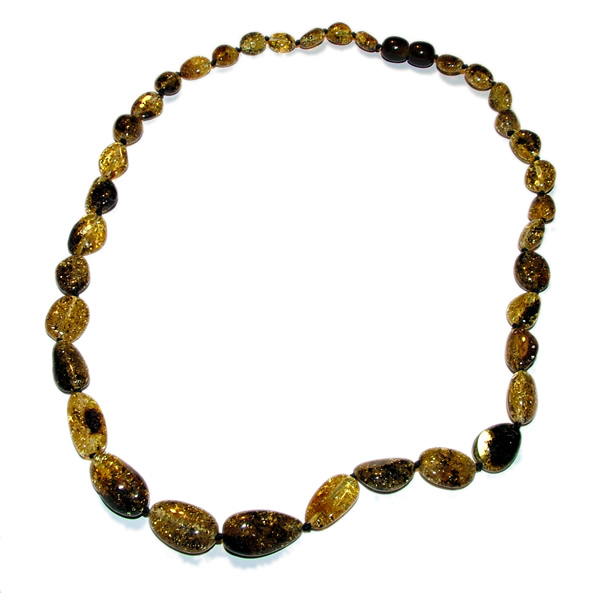 Olive Garden With Amberstone: Amber Adult Health Necklaces Olive Style Beads