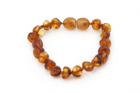 Baroque Amber Child Clasp Bracelet / Anklet