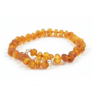 Child Adjustable Unpolished Honey Amber Anklet / Bracelet
