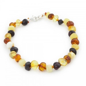 Adjustable Amber Anklet / Bracelet