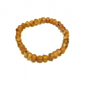 Adult Unpolished Baroque Amber Bracelet
