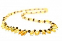 45cm Adult Amber Honey Drops Necklace