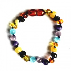 Amber and Cats Eye Mix Anklet / Bracelet