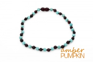 Adult Amber and Turquoise Necklace