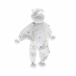 Under the Nile Organic Cotton Baby Buddy Pink Stars