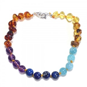 Adult Adjustable Baltic Rainbow Amber Bracelet