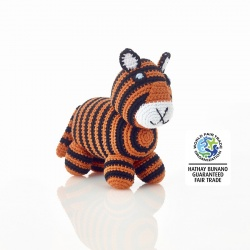 Knitted Standing Tiger Toy