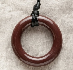 Teething Bling Pendant - Brown Ring