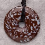 Teething Bling Pendant - Brown Snowflake