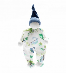 Under the Nile Organic Cotton Baby Buddy Chameleon Print