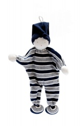 Under the Nile Organic Cotton Baby Buddy Blue Strip Blue Hat