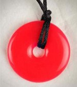 Teething Bling Pendant - Candy Apple