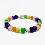 Adult Chakra Rainbow Colour Bead Bracelet