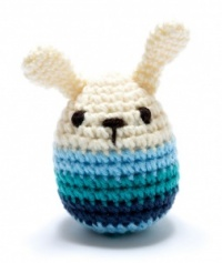 Pebble Crochet Mini Bunny Blue Strip