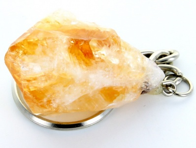 Citrine Point Crystal Keyring