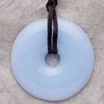 Teething Bling Pendant - Cotton Candy Blue