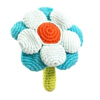 Pebble Flower Rattle - Turquoise