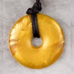 Teething Bling Pendant - Metallic Gold