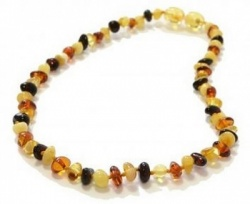 Half Baroque Amber Necklace