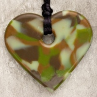 Teething Bling Heart Pendant - Camouflage